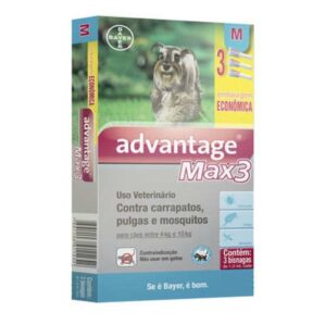 Antipulgas E Carrapatos Bayer Advantage Max3 Caes De 4 A 10 Kg