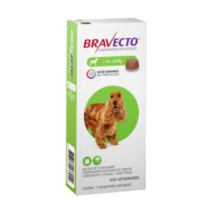 Antipulgas e Carrapatos Bravecto MSD para Caes de 10 a 20 kg