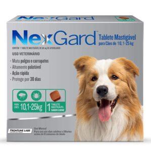 Antipulgas e Carrapatos NexGard para Caes de 101 a 25kg