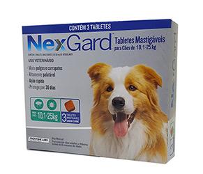 Antipulgas e Carrapatos NexGard para Caes de 101 a 25kg 3 tabletes