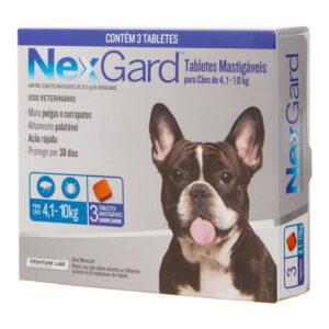 Antipulgas e Carrapatos NexGard para Caes de 41 a 10kg 3 tabletes