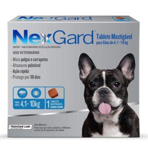 Antipulgas e Carrapatos NexGard para Caes de 41 a 10kg