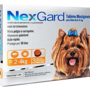 Antipulgas e Carrapatos Nexgard para Caes de 2 a 4 kg 3 tabletes