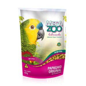 Racao Extrusada Megazoo para Papagaio Large 600g