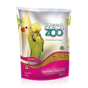 Racao Megazoo para Calopsitas e Periquitos 350g